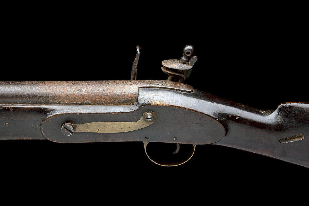 COOPER & GOODMAN, BIRMINGHAM A SUBSTANTIAL 10-BORE FLINTLOCK IRON-BARRELLED BLUNDERBUSS, no - Image 4 of 5