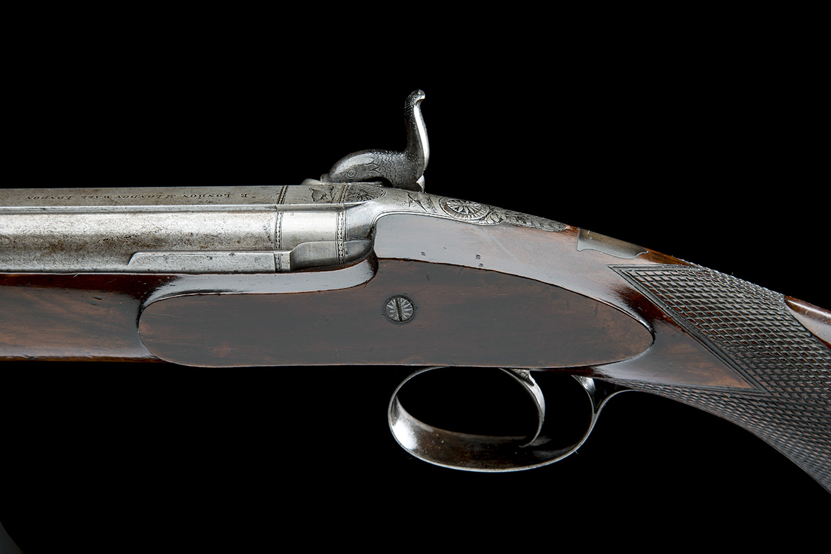E. LONDON, LONDON AN 11-BORE PERCUSSION SINGLE-BARRELLED SPORTING-GUN, no visible serial number, - Image 5 of 8
