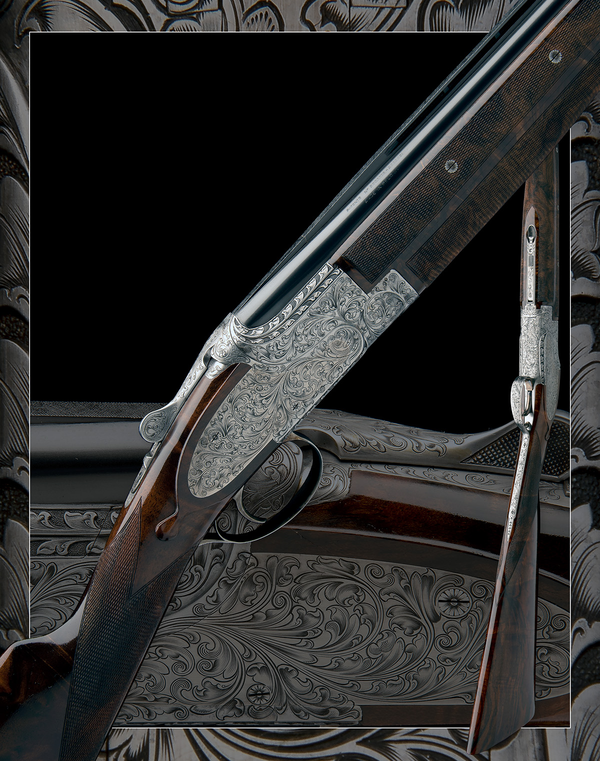BROWNING ARMS CO. A CUSTOM JACOBY-ENGRAVED 20-BORE SIDEPLATED 'B25' SINGLE-TRIGGER OVER AND UNDER - Image 11 of 11