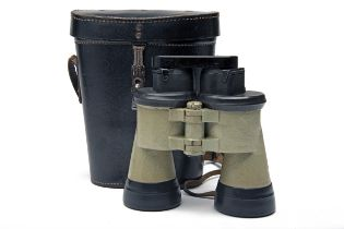 CARL ZEISS, JENA A CASED PAIR OF PROVENANCED RUBBER-ARMOURED 7x50 GERMAN WORLD WAR TWO
