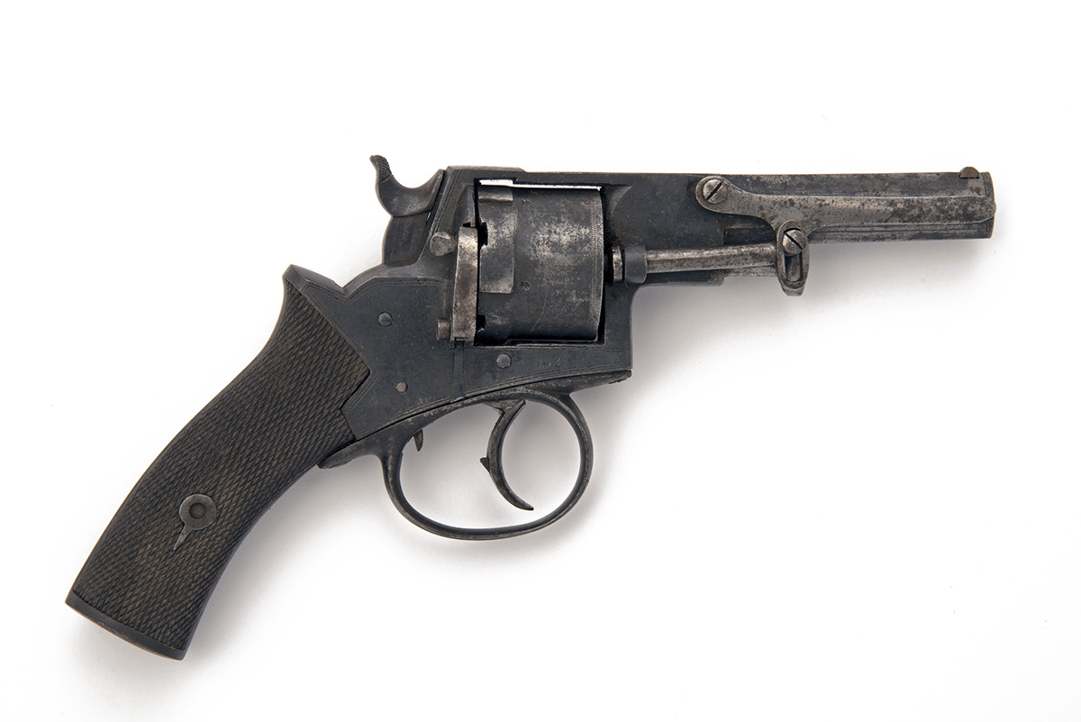 A .320 RIMFIRE DOUBLE-ACTION OVER-COAT REVOLVER, UNSIGNED, serial no. 1627, circa 1865, with