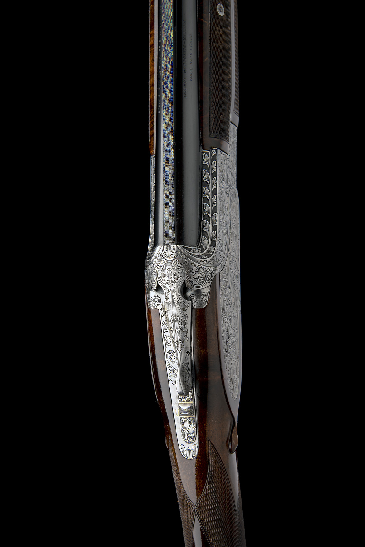BROWNING ARMS CO. A CUSTOM JACOBY-ENGRAVED 20-BORE SIDEPLATED 'B25' SINGLE-TRIGGER OVER AND UNDER - Image 7 of 11