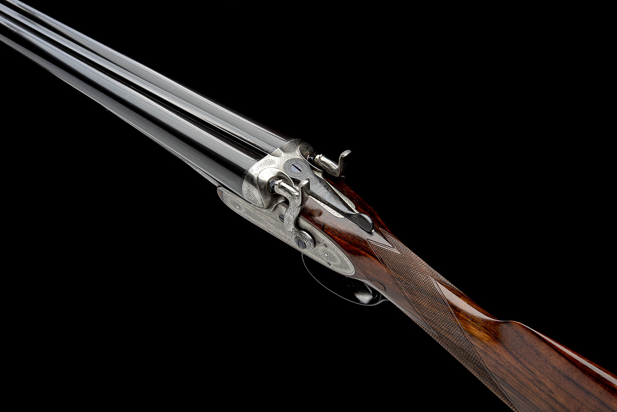 J. PURDEY & SONS A 12-BORE BAR-IN-WOOD TOPLEVER HAMMERGUN, serial no. 11619, circa 1883, 30in. nitro - Image 7 of 7