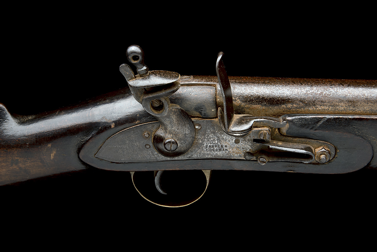 COOPER & GOODMAN, BIRMINGHAM A SUBSTANTIAL 10-BORE FLINTLOCK IRON-BARRELLED BLUNDERBUSS, no - Image 5 of 5