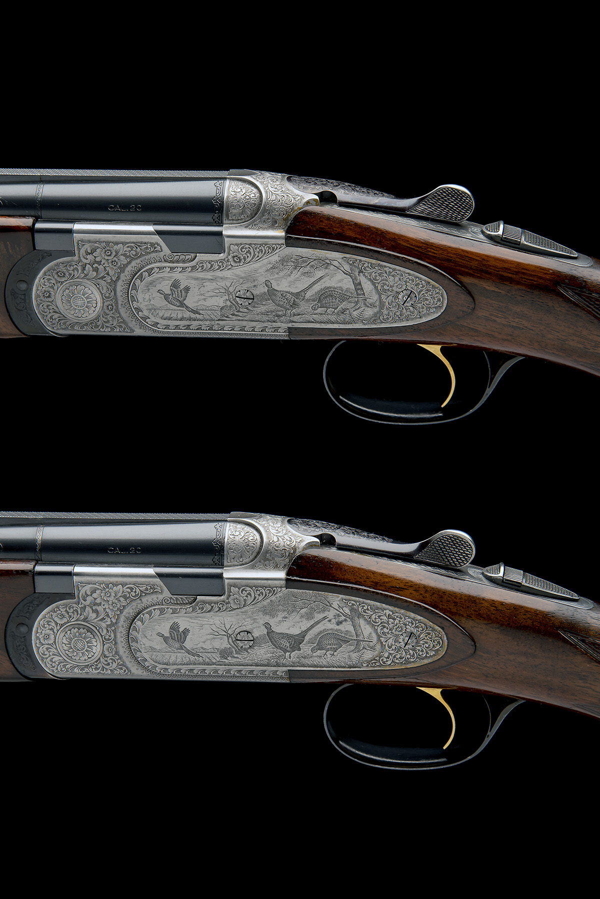 P. BERETTA A PAIR OF 20-BORE 'MOD. 687 EELL' SINGLE-TRIGGER OVER AND UNDER EJECTORS, serial no. - Image 4 of 10