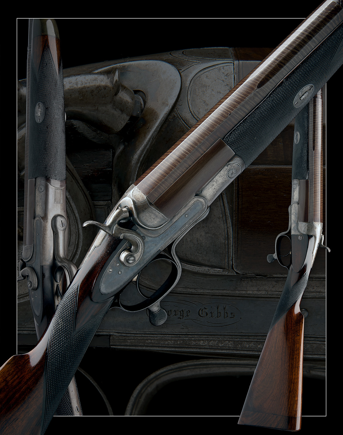 GEORGE GIBBS A 4-BORE SINGLE-BARRELLED ROTARY-UNDERLEVER HAMMERGUN, serial no. 3638, serial number - Image 9 of 9