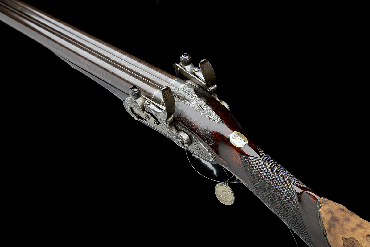 EX W. KEITH NEAL: FORSYTH & CO., LONDON AN EXCEEDINGLY RARE 19-BORE SELF-PRIMING SPORTING GUN, - Image 20 of 21