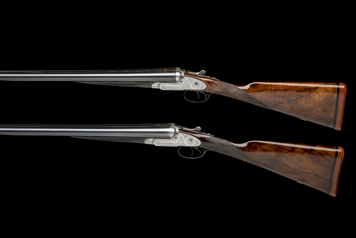 B. NORMAN A PAIR OF 12-BORE SIDELOCK EJECTORS, serial no. 2051 / 2, first quarter of the 20th - Image 2 of 8