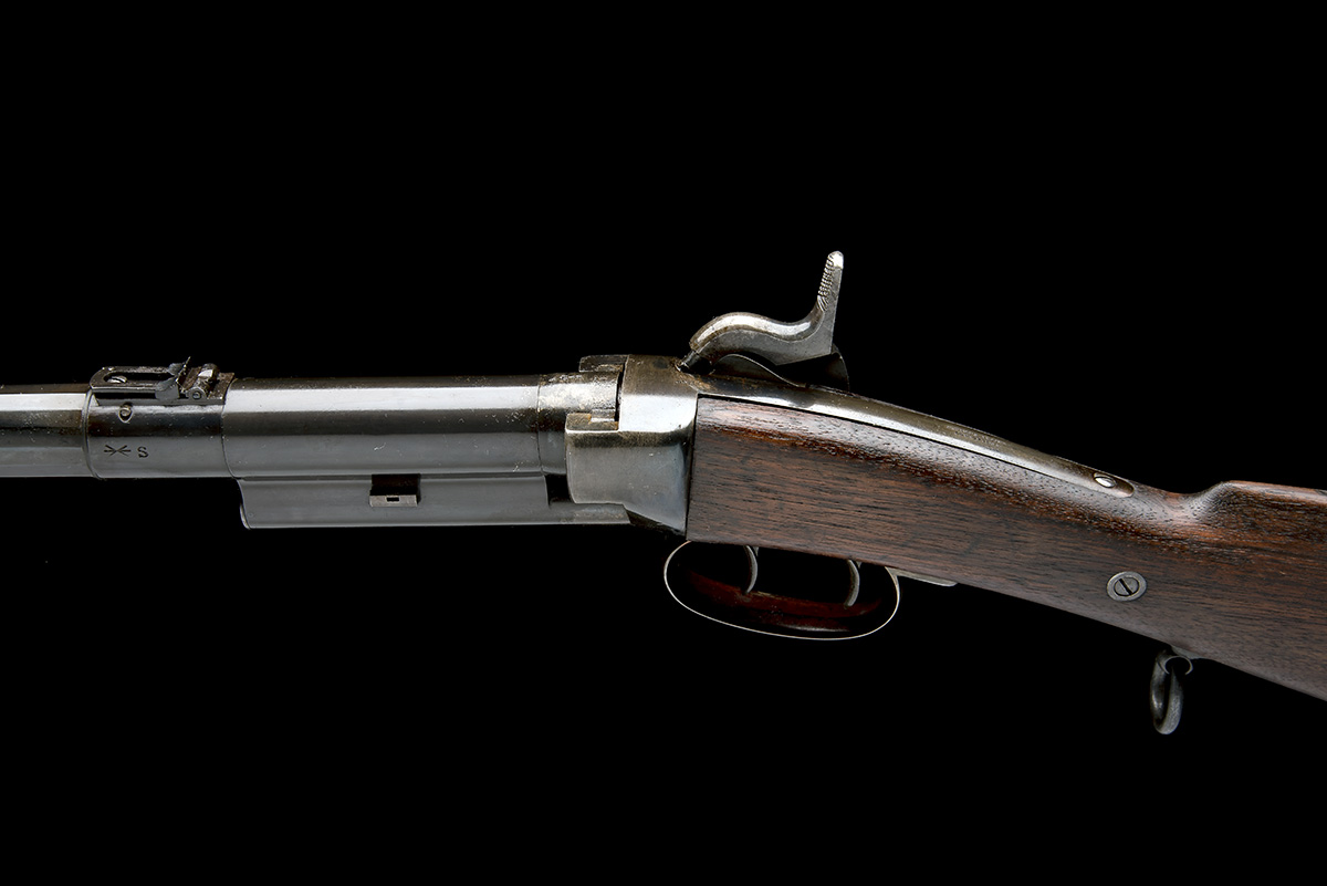 MASSACHUSETTS ARMS, USA A .54 CAPPING BREECH-LOADING CARBINE, MODEL 'GREENE'S PATENT BRITISH ISSUE', - Image 4 of 8
