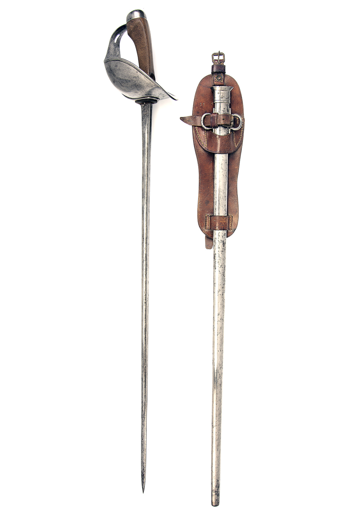 A BRITISH CAVALRY-TROOPER'S PATTERN '08 SWORD SIGNED 'S.B. & N. LTD', WITH SCARCE SADDLE-FROG, dated