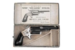 BROOKLYN ARMS CO, USA A RARE BOXED .32 RIMFIRE FIVE-SHOT REVOLVER WITH SLIDING CHAMBERS, MODEL '