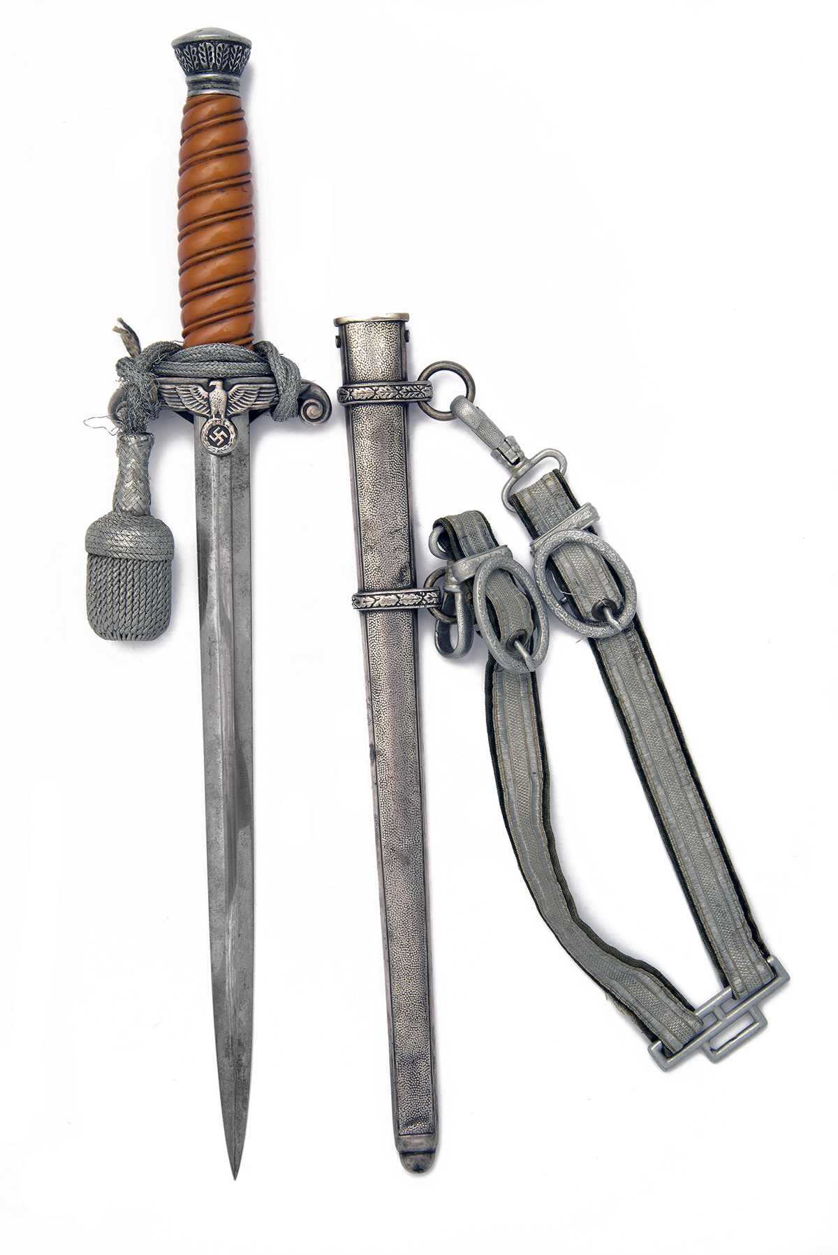 ALCOSO, SOLINGEN A WORLD-WAR TWO GERMAN ARMY DRESS DAGGER, World War Two production in nickel silver - Image 2 of 4