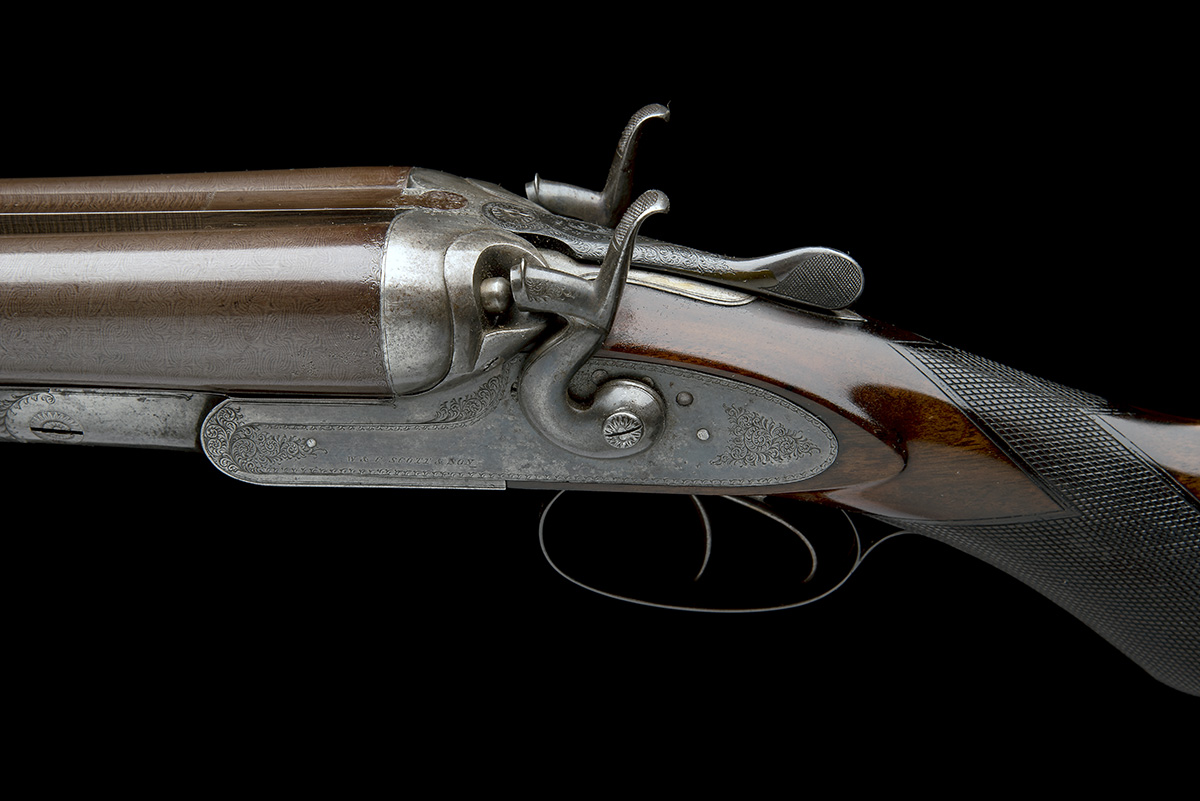 W. & C. SCOTT & SON AN 8-BORE 1865 PATENT DOUBLE-BARRELLED TOPLEVER HAMMERGUN, serial no. 29673, - Image 4 of 9