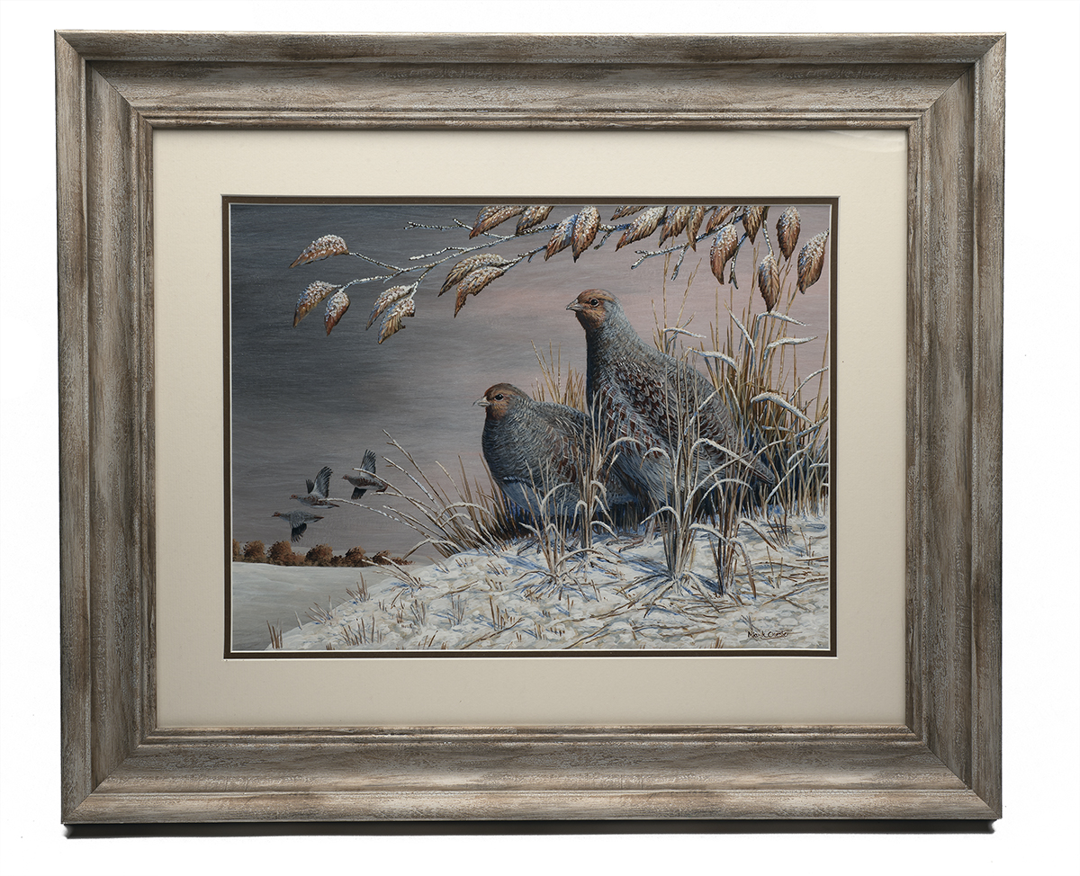 MARK CHESTER (F.W.A.S.) 'WINTER EVENING', an original painting, signed by the artist, showing a