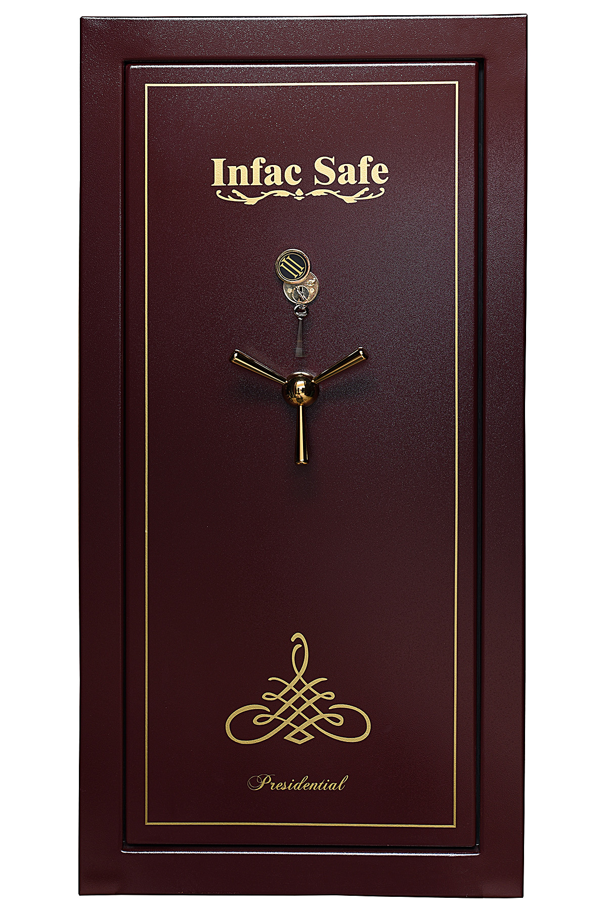 INFAC A NEW AND UNUSED 'MODEL PK75' BLACK FIRE PROTECTION STEEL GUN CABINET, fitted for 24 guns,