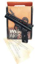 WEBLEY & SCOTT, BIRMINGHAM A BOXED .22 BARREL-COCKING AIR-PISTOL, MODEL 'STOVE-ENAMELLED PREMIER',
