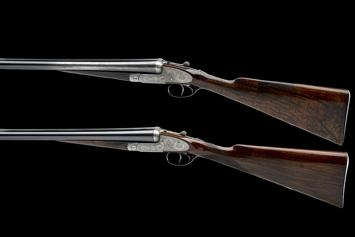 COGSWELL & HARRISON A PAIR OF 12-BORE 'EXTRA QUALITY VICTOR' SIDELOCK EJECTORS, serial no. 42510/ - Image 2 of 10
