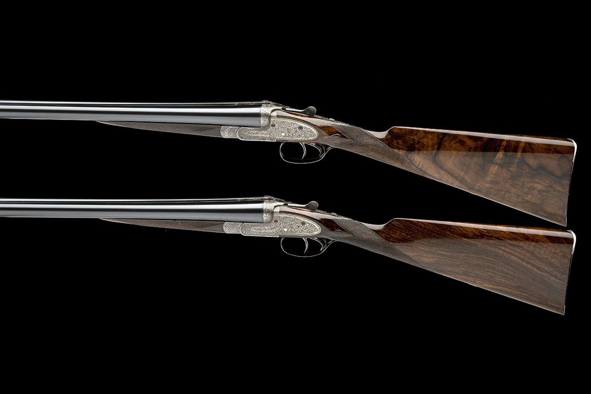 WILLIAM EVANS A PAIR OF 12-BORE SIDELOCK EJECTORS, serial no. 12995 / 6, for 1923, 30in. nitro - Image 2 of 12