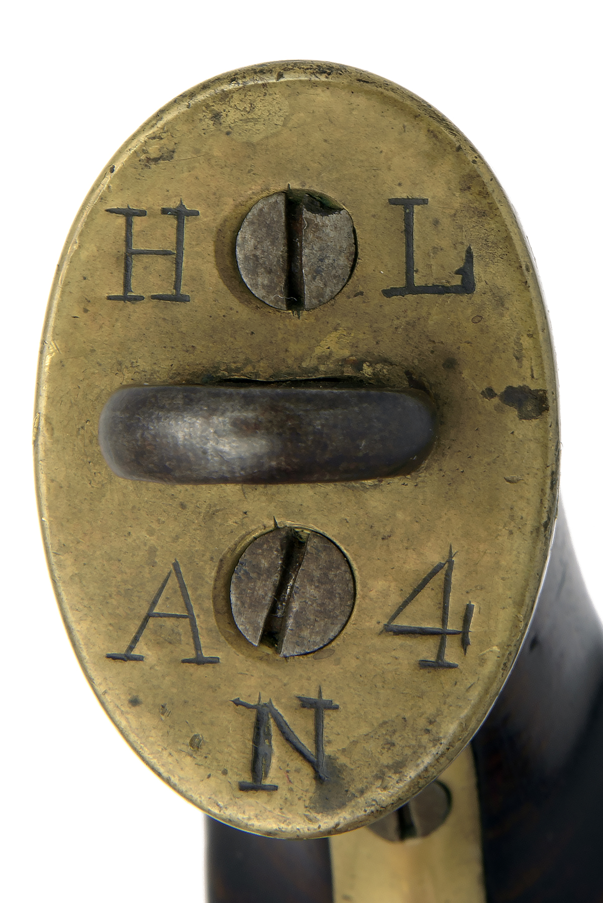 A RARE .650 PERCUSSION PISTOL FOR THE EAST INDIA COMPANY, no visible serial number, converted from - Image 3 of 4