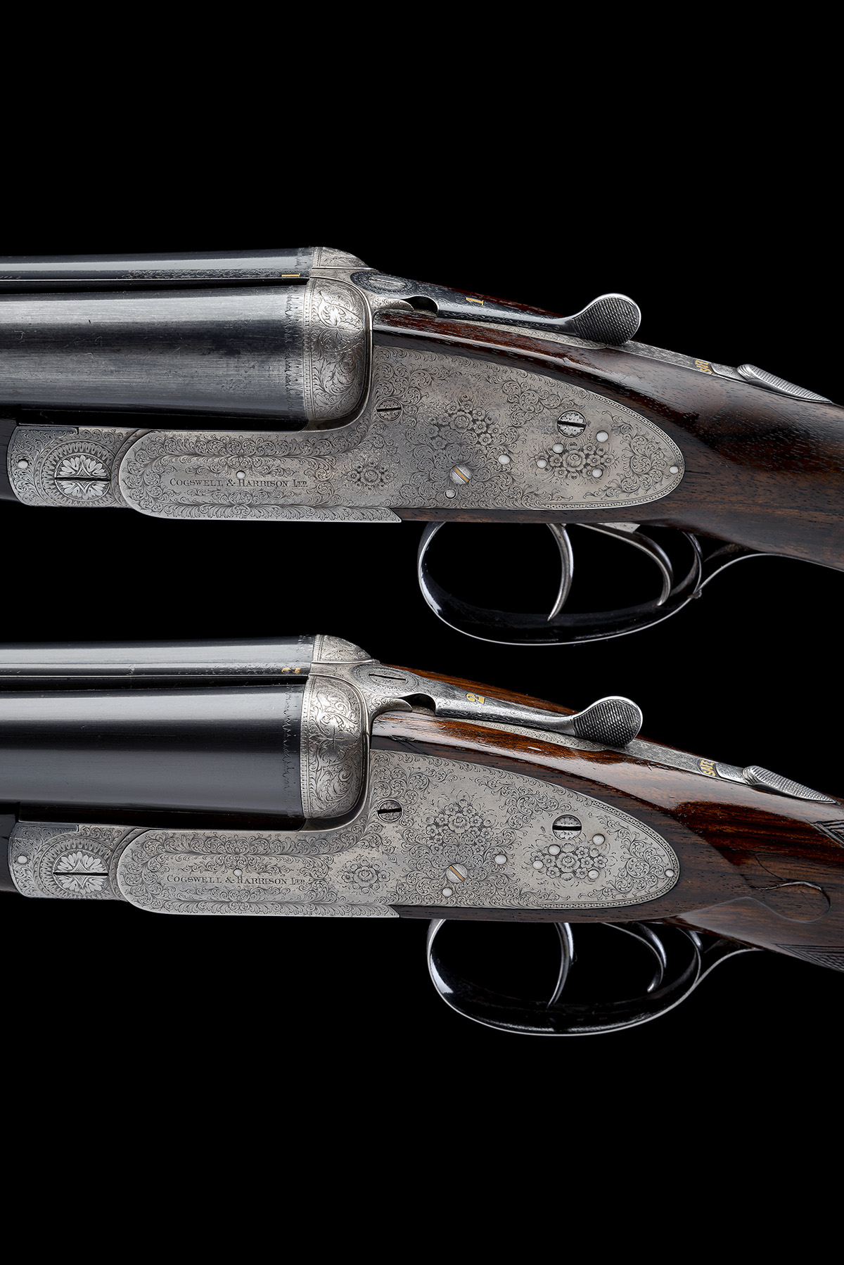 COGSWELL & HARRISON A PAIR OF 12-BORE 'EXTRA QUALITY VICTOR' SIDELOCK EJECTORS, serial no. 42510/ - Image 4 of 10