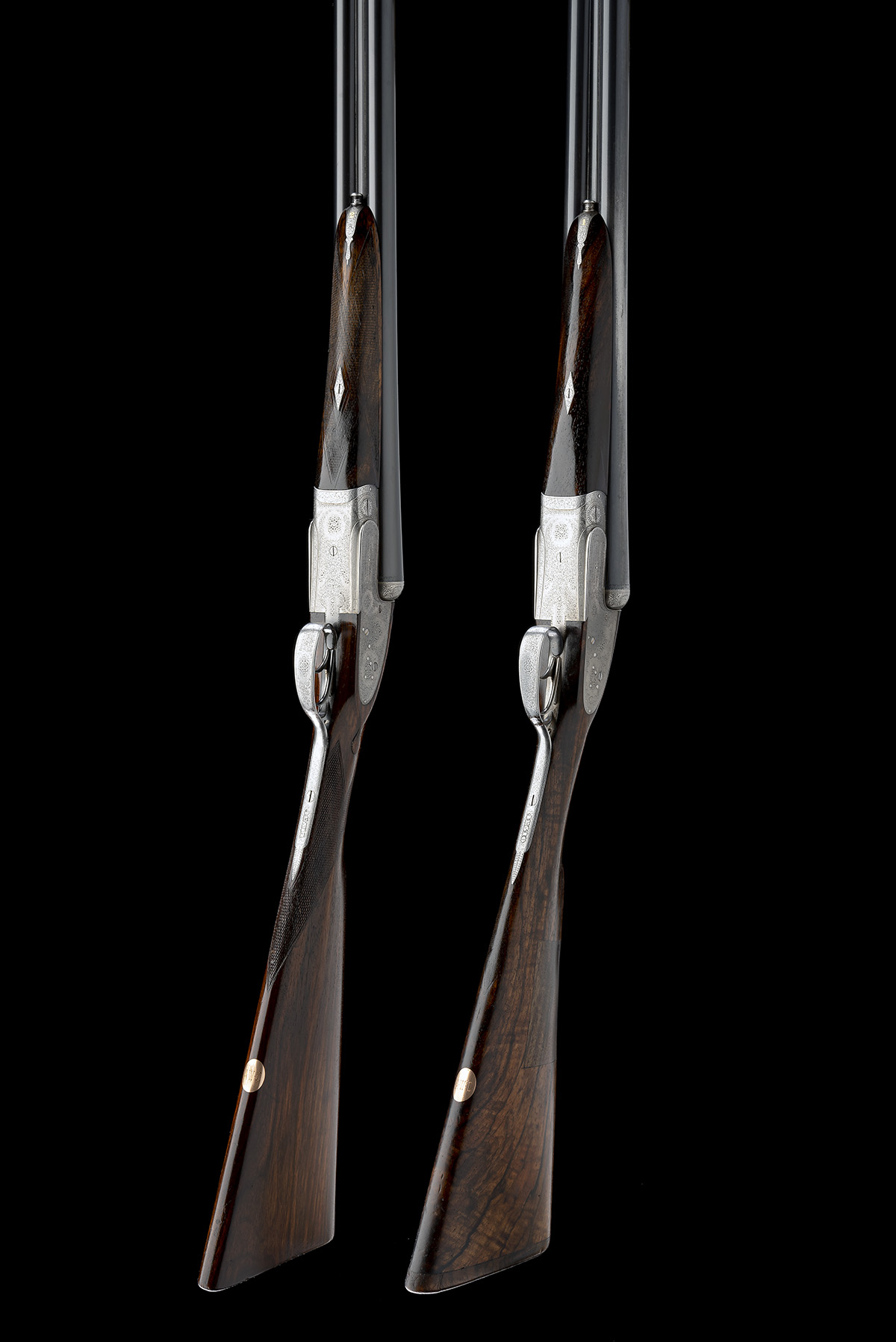 COGSWELL & HARRISON A PAIR OF 12-BORE 'EXTRA QUALITY VICTOR' SIDELOCK EJECTORS, serial no. 42510/ - Image 8 of 10