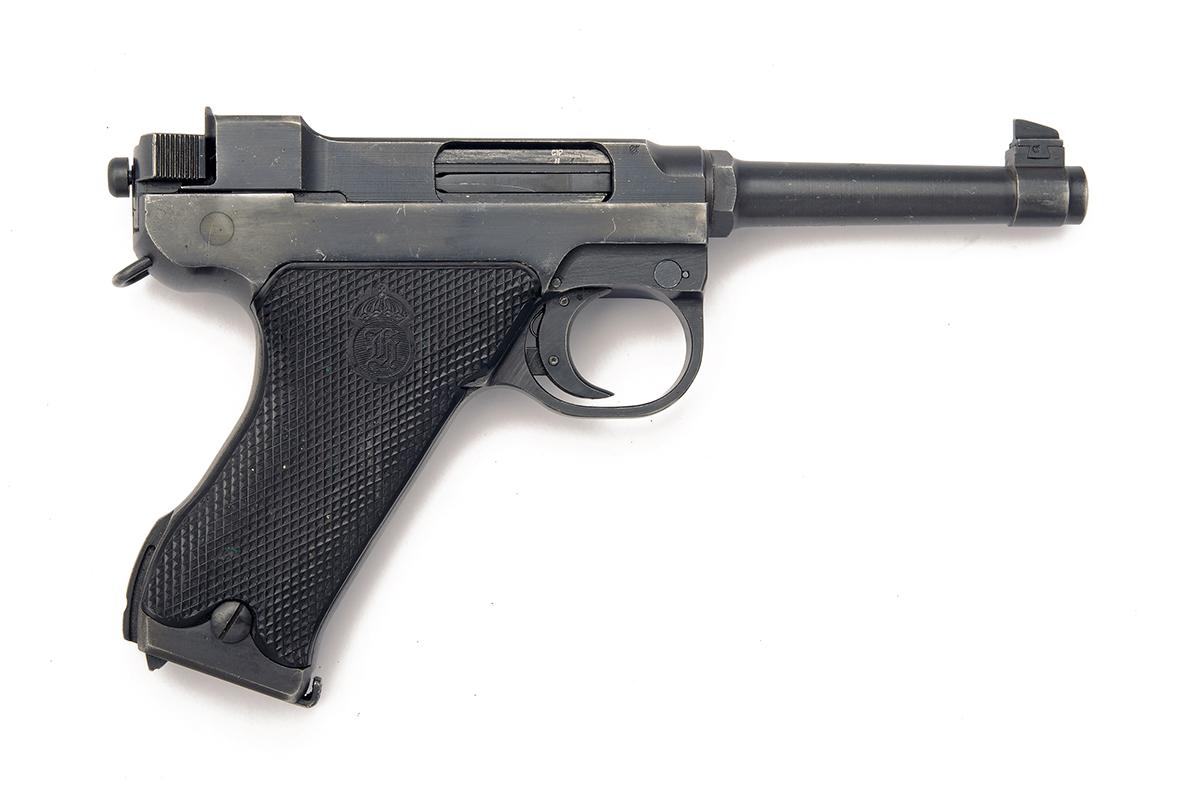 HUSQVARNA, SWEDEN A 9mm (PARA) SEMI-AUTOMATIC SERVICE-PISTOL, MODEL 'M40 LAHTI', serial no. 70489, - Image 2 of 4