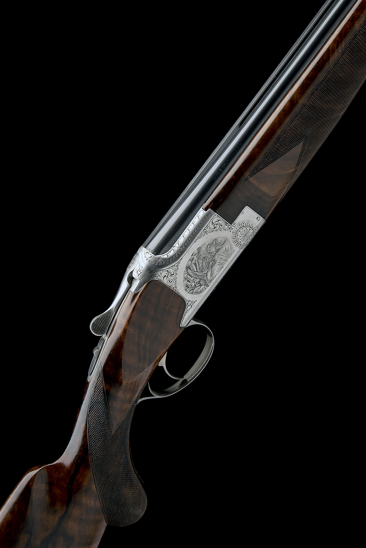 BROWNING ARMS COMPANY A PERFIDO-ENGRAVED 20-BORE 'MOD. B2G' SINGLE-TRIGGER OVER AND UNDER EJECTOR,
