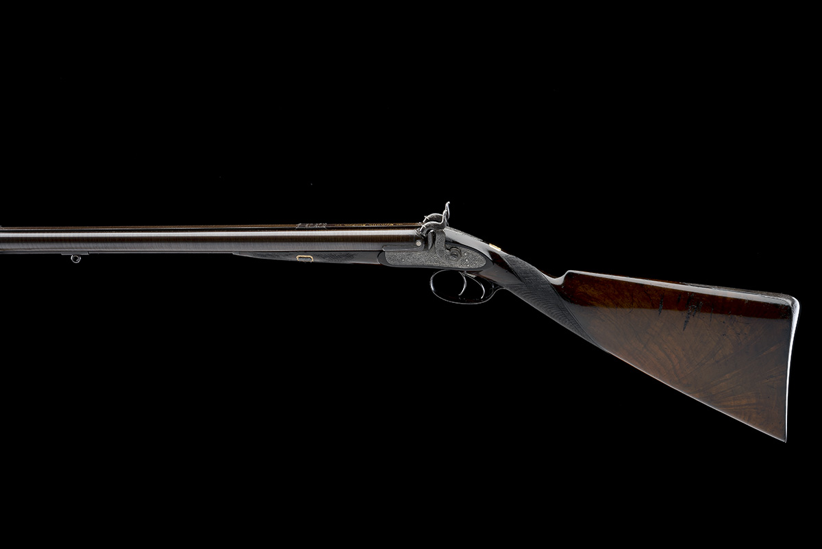 BECKWITH, LONDON A FINE CASED 15-BORE PERCUSSION DOUBLE-RIFLE FOR DANGEROUS GAME, serial no. 2747, - Image 2 of 14