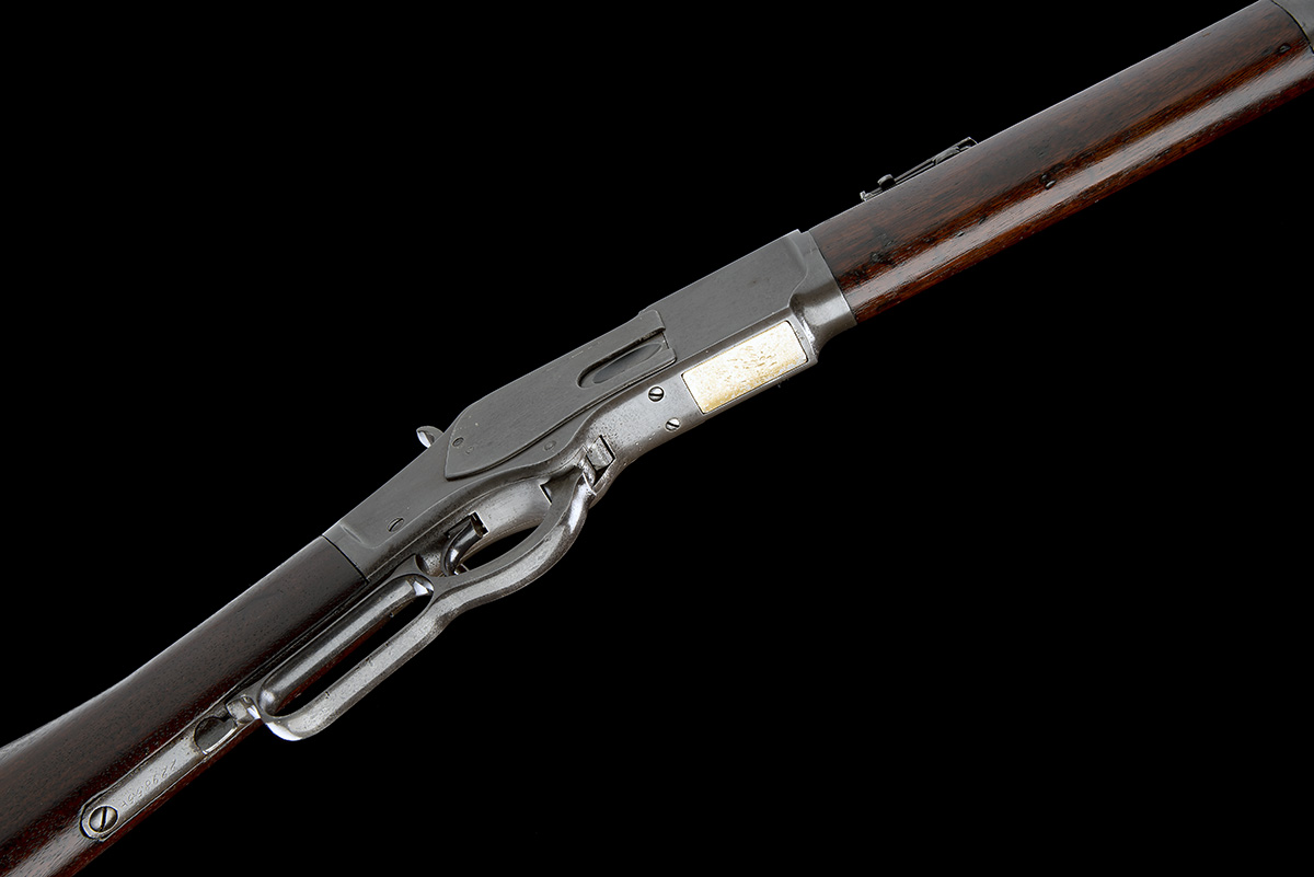 WINCHESTER REPEATING ARMS, USA A .44 W.C.F. 'MODEL 1873' LEVER-ACTION REPEATING SPORTING RIFLE, - Image 3 of 8
