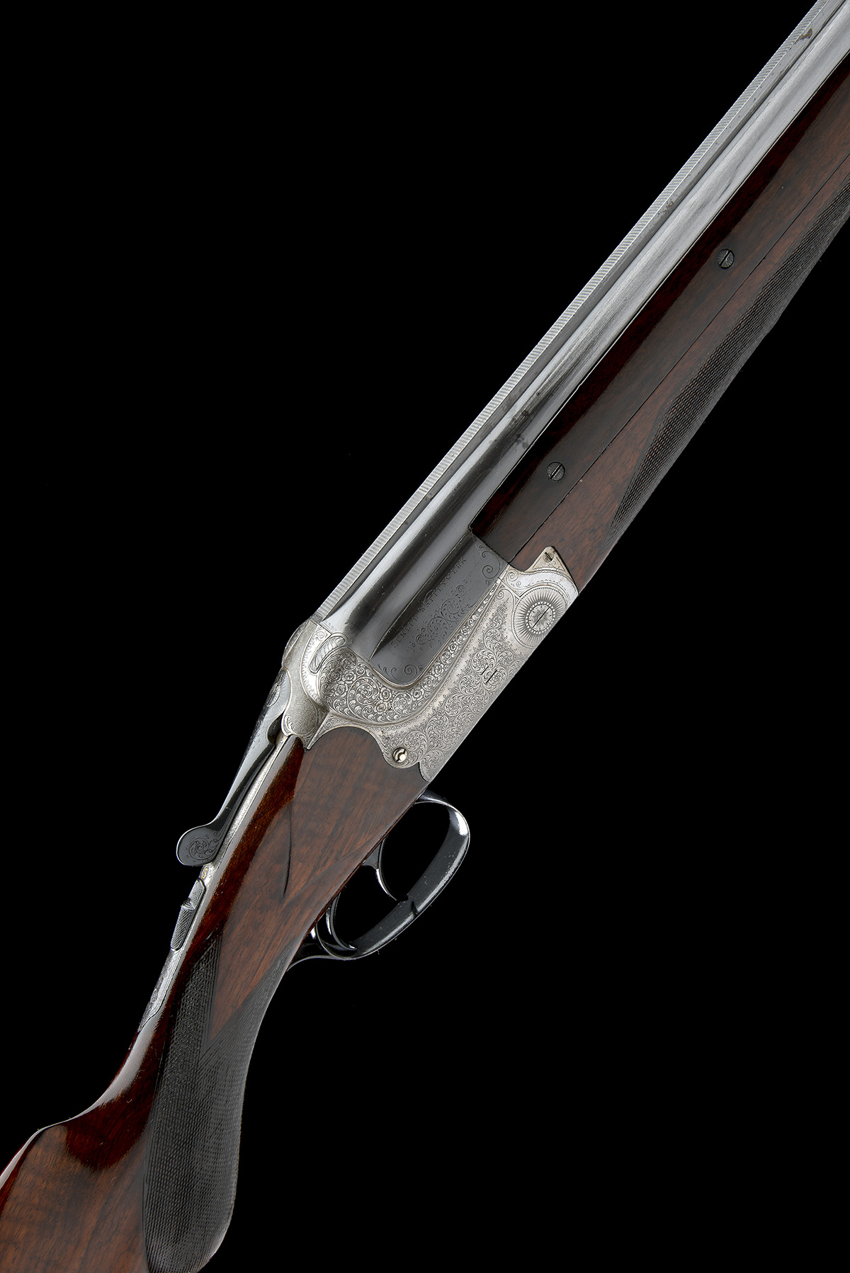 GEBRUDER MERKEL A 12-BORE DOUBLE-TRIGGER OVER AND UNDER EJECTOR, serial no. 21653, for August
