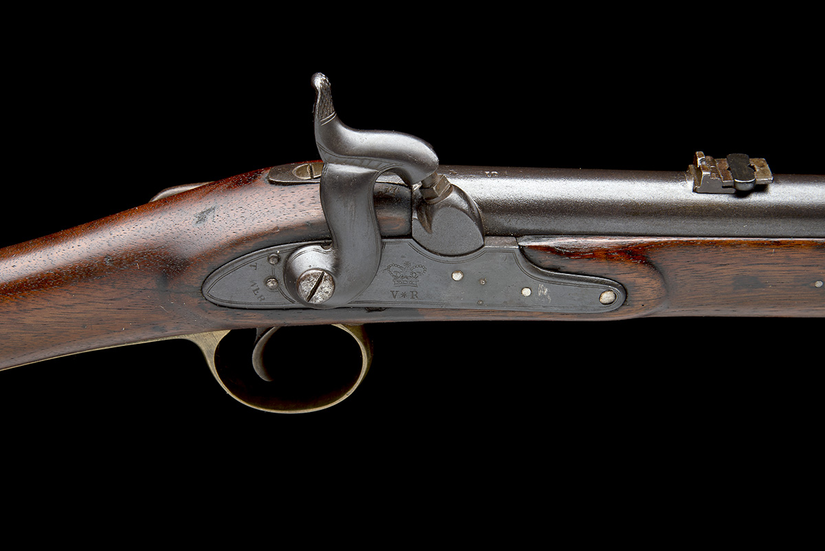 TOWER ARMOURIES, LONDON A .685 PERCUSSION RIFLED SADDLE-CARBINE, MODEL 'PAGET CAVALRY CARBINE', - Image 6 of 8