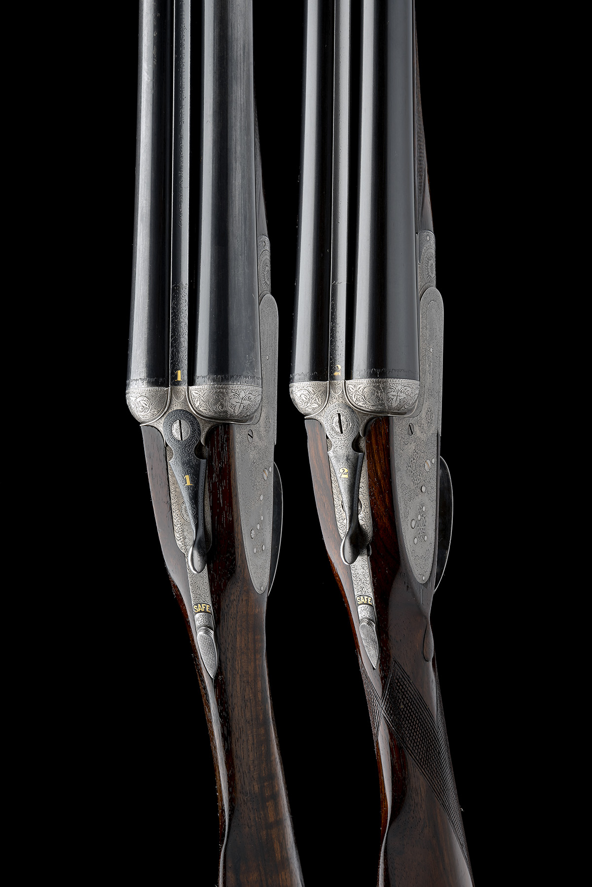 COGSWELL & HARRISON A PAIR OF 12-BORE 'EXTRA QUALITY VICTOR' SIDELOCK EJECTORS, serial no. 42510/ - Image 6 of 10
