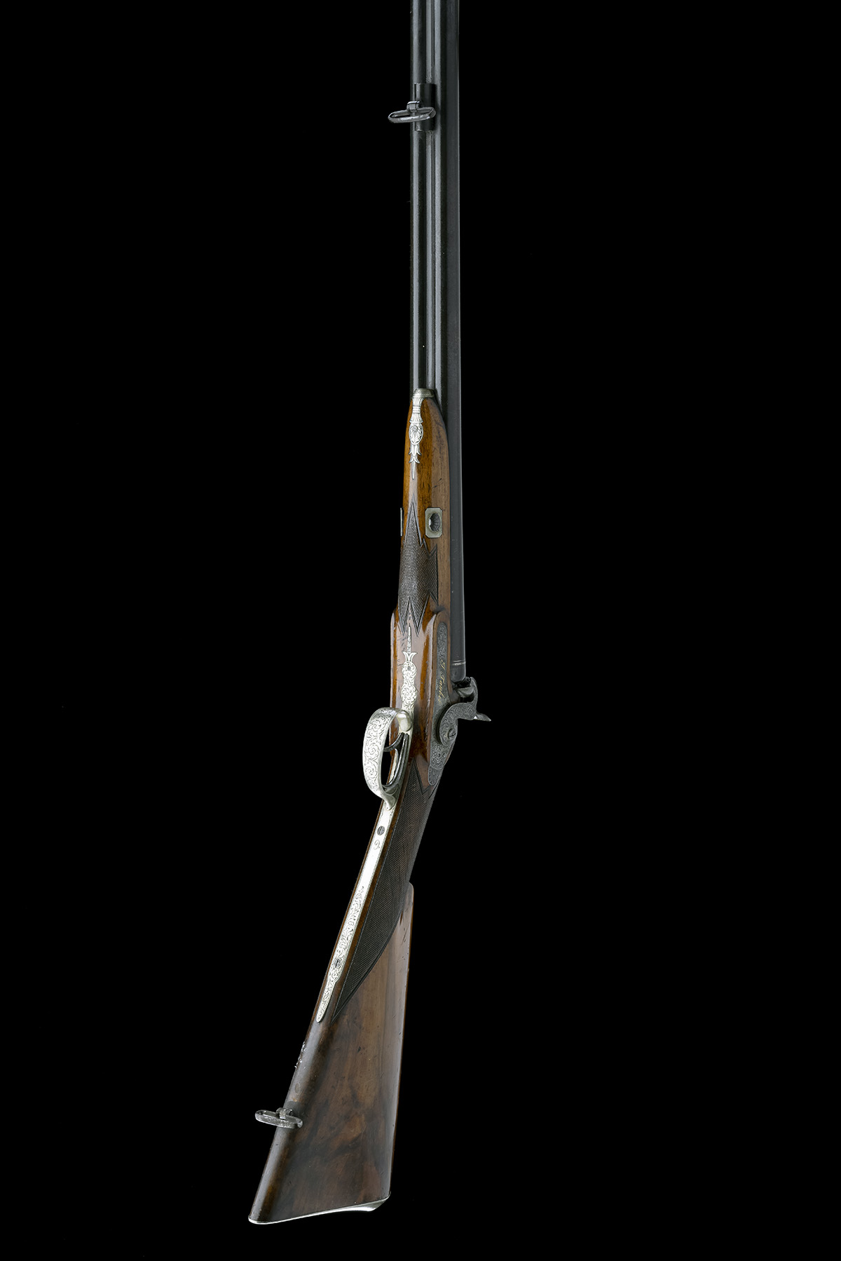 J. TAUBER, ZURICH A 14-BORE PERCUSSION DOUBLE-BARRELLED SPORTING-GUN, no visible serial number, - Image 9 of 9