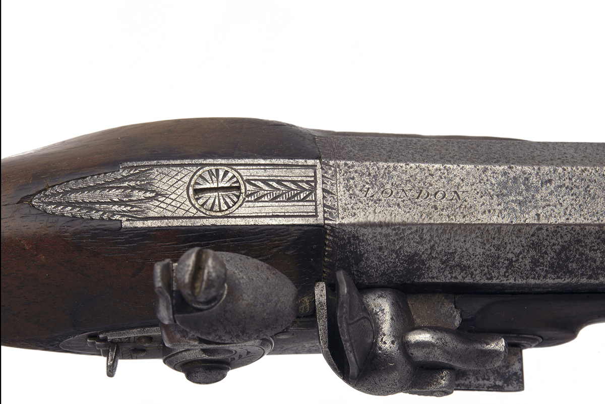 SMITH, LONDON A PAIR OF 20-BORE FLINTLOCK 'MANSTOPPER' POCKET-PISTOLS, no visible serial numbers, - Image 3 of 4