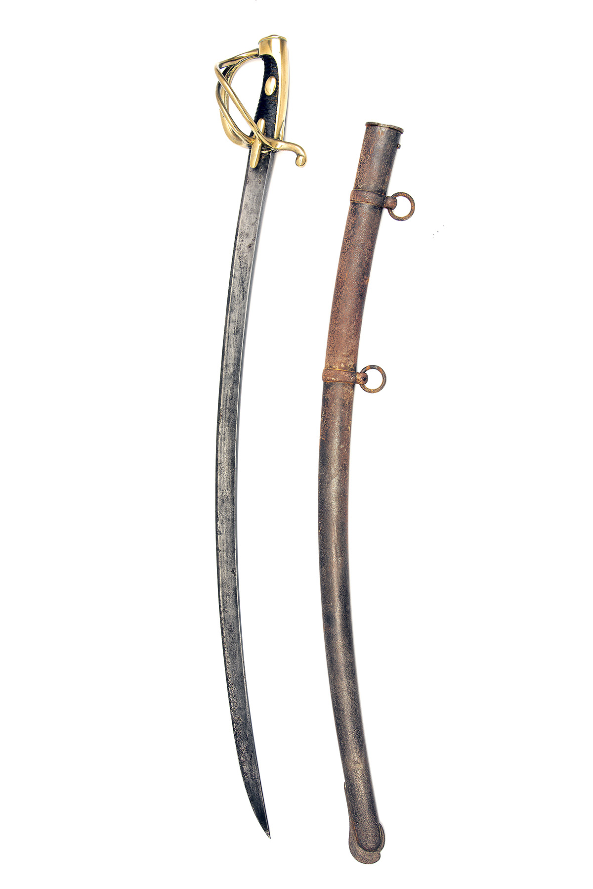 A NAPOLEONIC-ERA FRENCH HUSSAR TROOPER'S SWORD SIGNED KLINGENTHAL, no visible serial number, dated