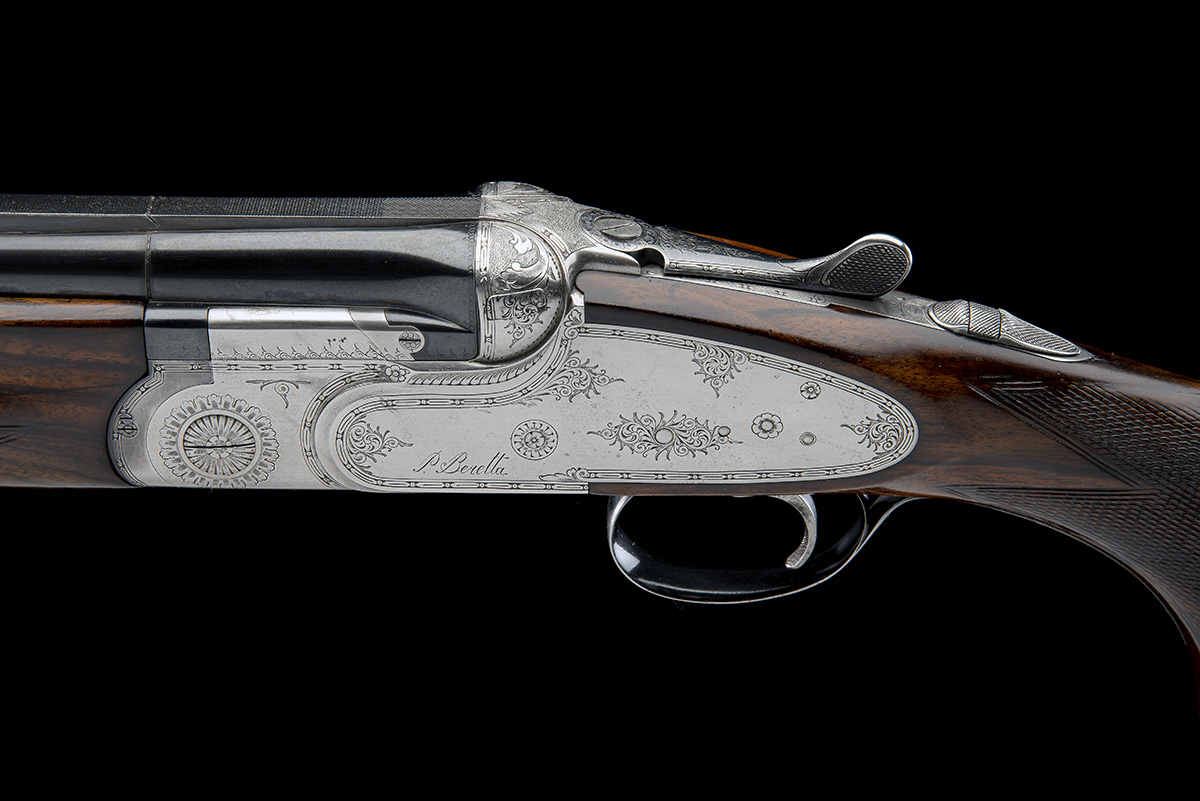 P. BERETTA A 12-BORE 'SO4' SINGLE-TRIGGER OVER AND UNDER SIDELOCK EJECTOR, serial no. C06832B, for - Image 4 of 8