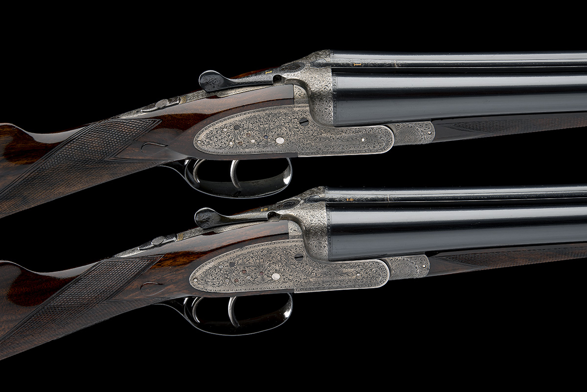WILLIAM EVANS A PAIR OF 12-BORE SIDELOCK EJECTORS, serial no. 12995 / 6, for 1923, 30in. nitro