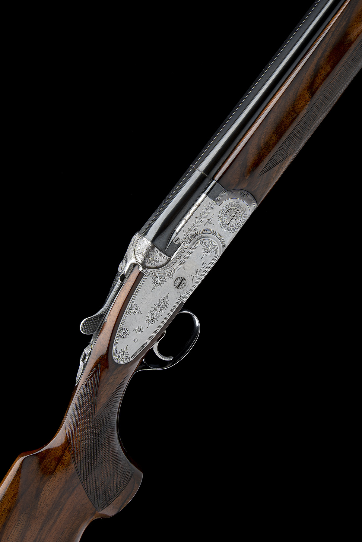 P. BERETTA A 12-BORE 'SO4' SINGLE-TRIGGER OVER AND UNDER SIDELOCK EJECTOR, serial no. C06832B, for