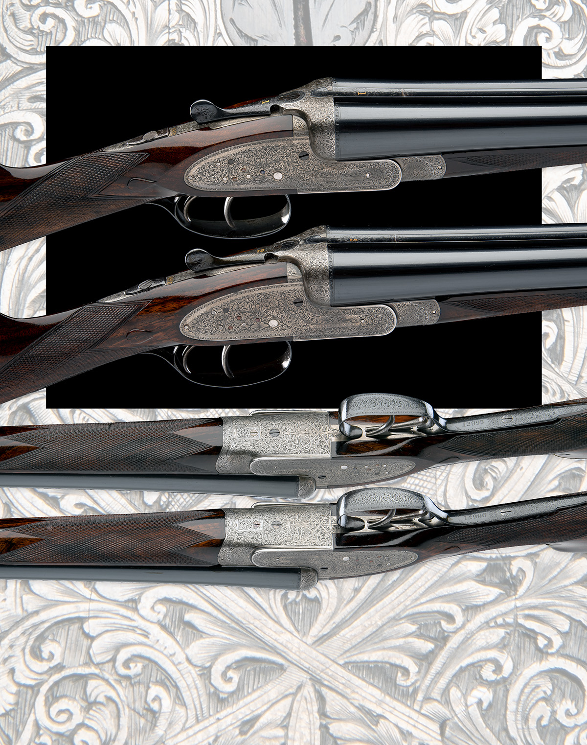 WILLIAM EVANS A PAIR OF 12-BORE SIDELOCK EJECTORS, serial no. 12995 / 6, for 1923, 30in. nitro - Image 12 of 12