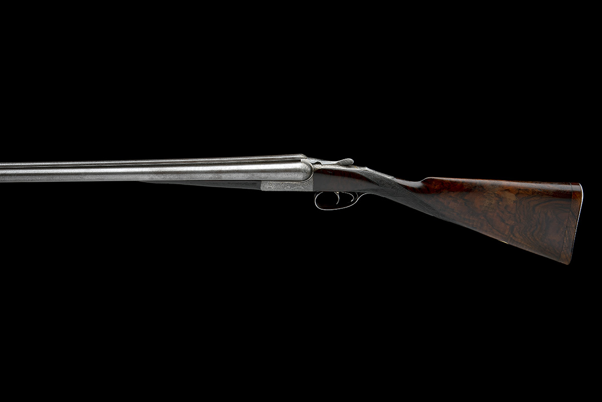 JOHN DICKSON & SON A 12-BORE 1887 PATENT 'ROUND-ACTION' TRIGGERPLATE-ACTION EJECTOR, serial no. - Image 2 of 8