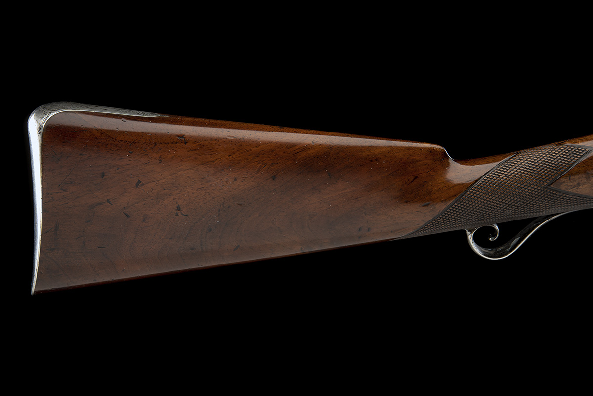 MOORE, CHOLSEY A GOOD 16-BORE PERCUSSION SILVER-MOUNTED SINGLE-BARRELLED SPORTING-GUN, no visible - Image 5 of 9