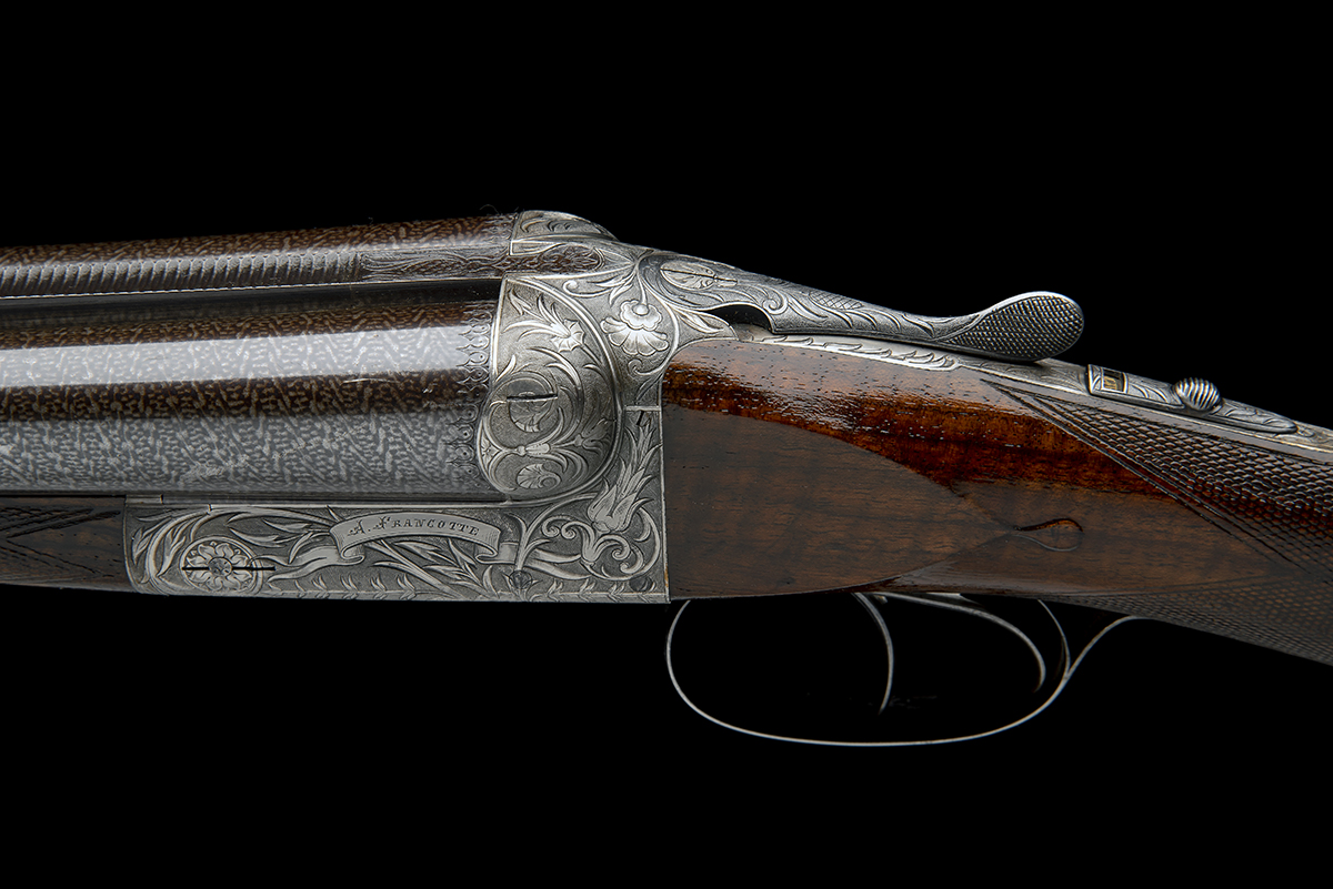 A. FRANCOTTE AN UNUSUAL AND HIGHLY DECORATIVE 12-BORE BOXLOCK NON-EJECTOR, serial no. 27792, - Image 4 of 12