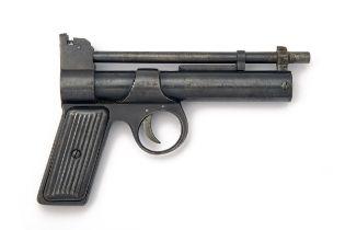 WEBLEY & SCOTT, BIRMINGHAM A .177 BARREL-COCKING AIR-PISTOL, MODEL 'PRE-WAR JUNIOR', serial no.