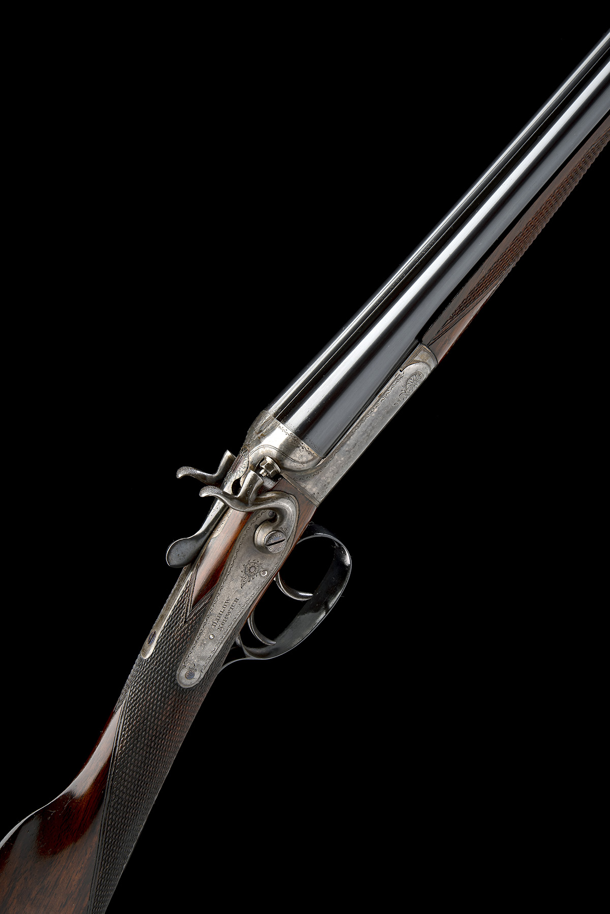 DARLOW (NORWICH) A .410 (2 1/2IN.) DOUBLE-BARRELLED TOPLEVER HAMMERGUN, serial no. H21351, for 1934,