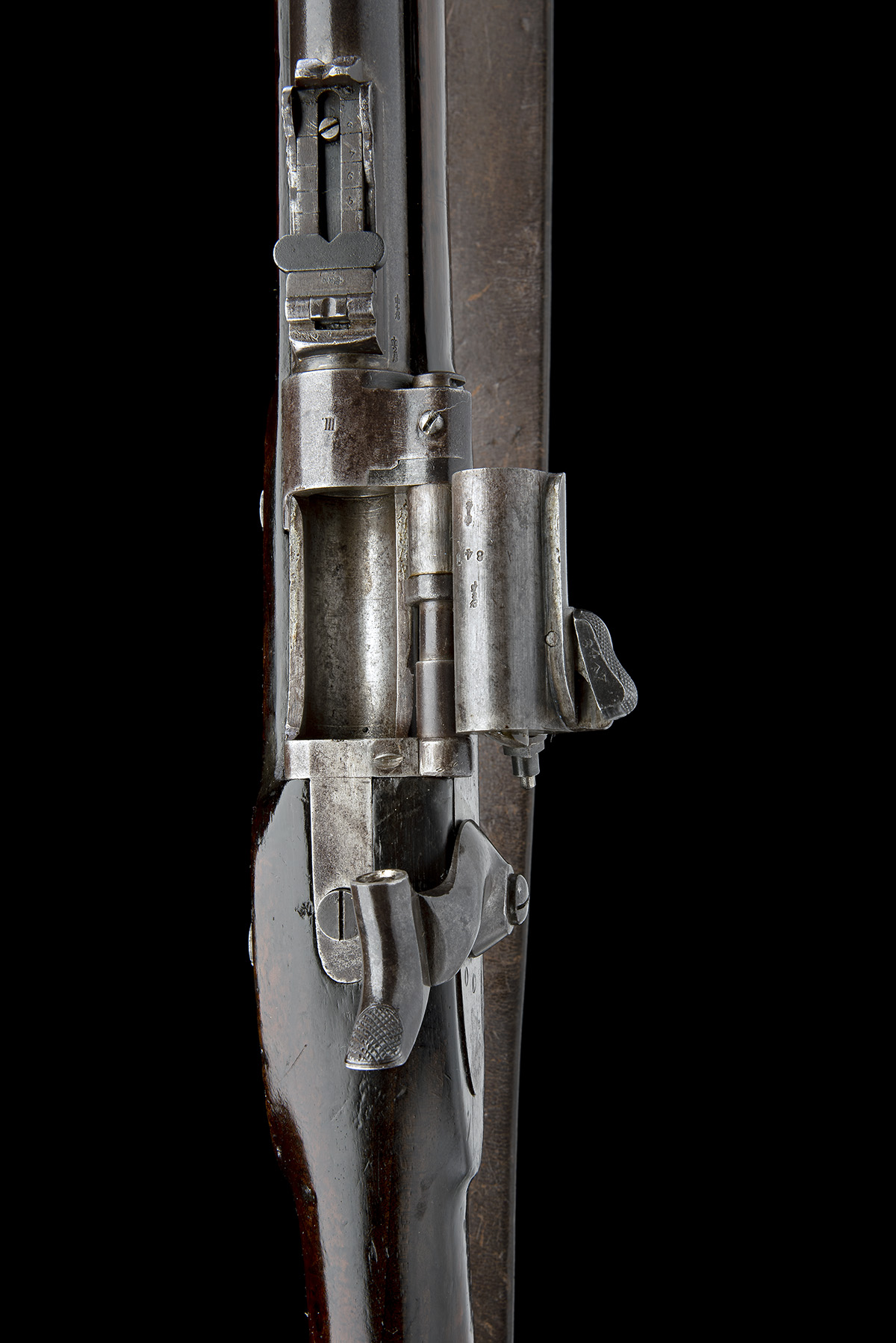 ENFIELD, ENGLAND A .577 (SNIDER) BREECH-LOADING SERVICE-RIFLE, MODEL 'MKIII TWO-BAND', serial no. - Image 7 of 10