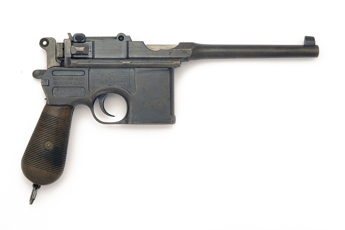 MAUSER, GERMANY A 7.63mm (MAUSER) SEMI-AUTOMATIC PISTOL, MODEL 'C96 'BROOMHANDLE' WARTIME