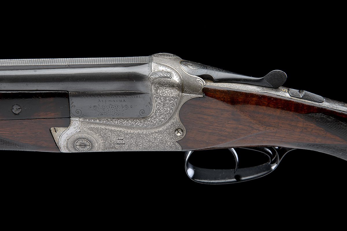GEBRUDER MERKEL A 12-BORE DOUBLE-TRIGGER OVER AND UNDER EJECTOR, serial no. 21653, for August - Image 4 of 8