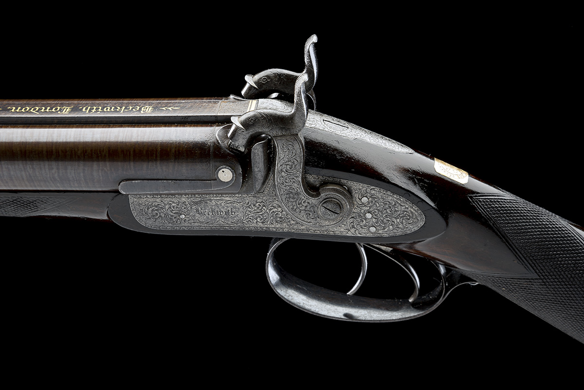 BECKWITH, LONDON A FINE CASED 15-BORE PERCUSSION DOUBLE-RIFLE FOR DANGEROUS GAME, serial no. 2747, - Image 8 of 14