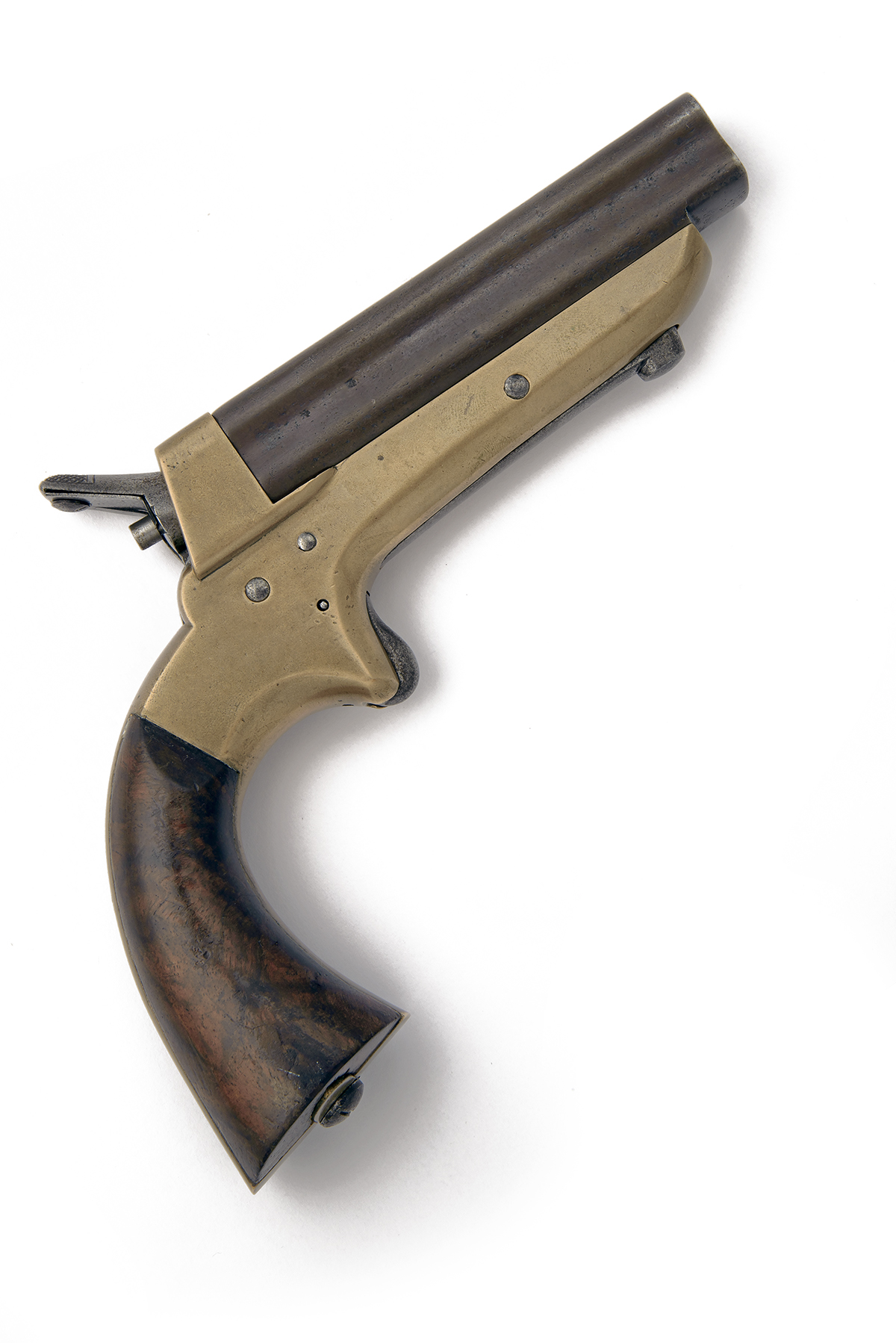 TIPPING & LAWDEN, AN UNUSUAL AND RARE .34 (RIMFIRE) OVERSIZED FOUR-BARRELLED OVERCOAT-PISTOL,