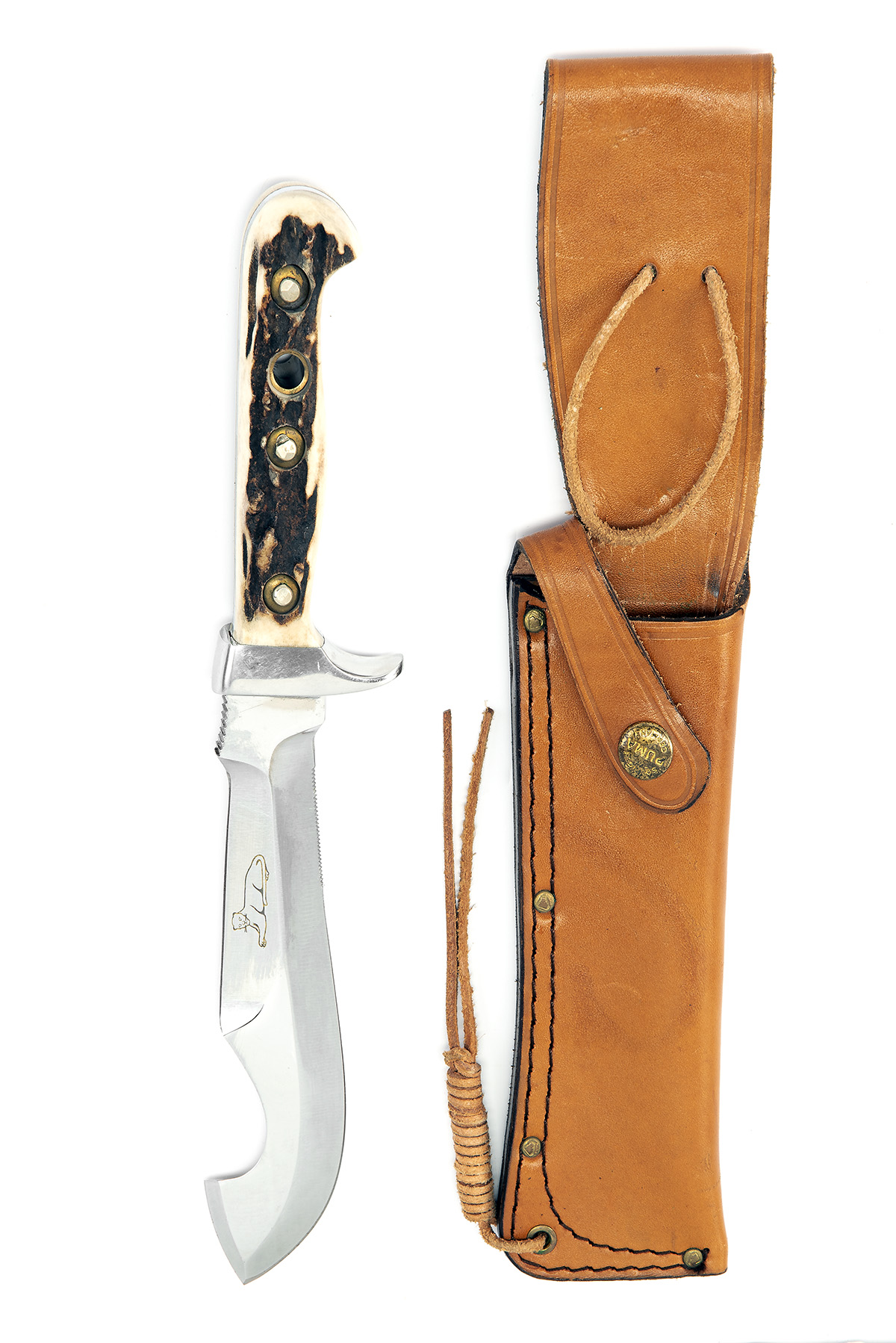 PUMA, GERMANY A SCARCE CASED SPORTING-KNIFE, MODEL '6374 COUGAR', serial no. 83774, for 1977, the - Image 2 of 2